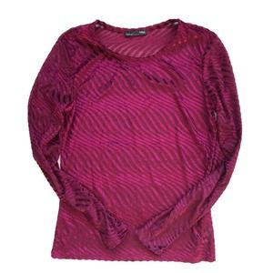Zara Long sleeve Top Wine Color Size Small